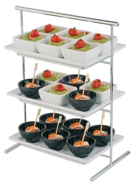 buffet etagere l-pure 3-etages 44 cm hoog