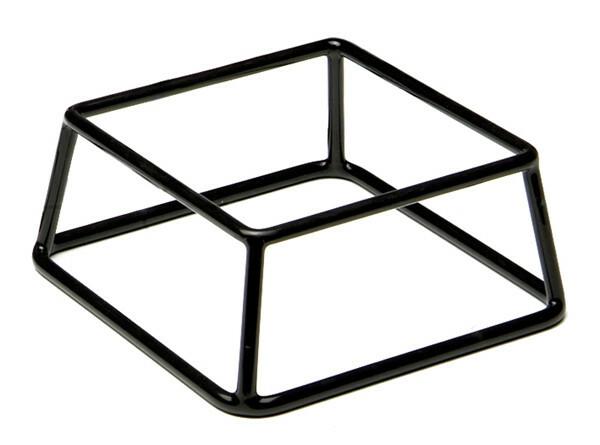 buffet standaard Multi metaal met zwart antislip 8 cm hoog