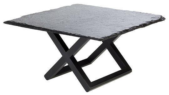 buffet standaard Wood 20 x 20 x 17,5 cm zwart