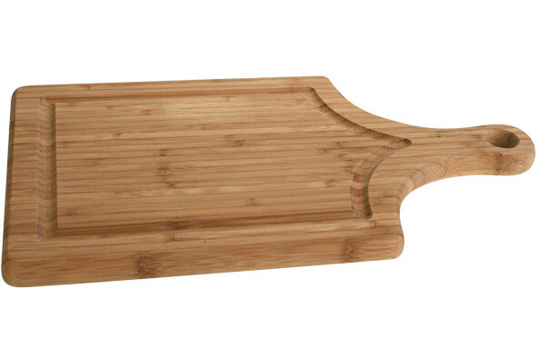 plank met handvat hout 35 x 20 x 1,8(h) cm