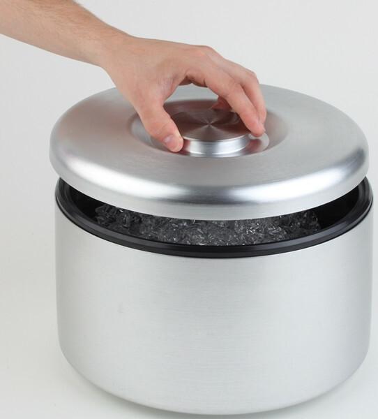 ijsbox aluminium Ø 18,5 x 20(h) cm