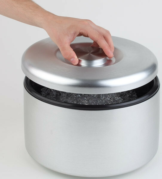 ijsbox aluminium Ø 27 x 20(h) cm