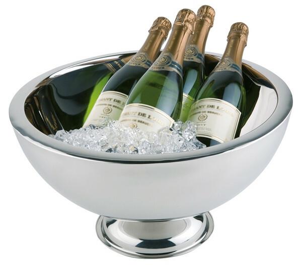 champagnekoeler edelstaal Ø 44 cm x 24(h) cm dubbelwandig