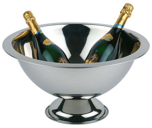 champagnekoeler edelstaal Ø 45 cm x 23(h) cm