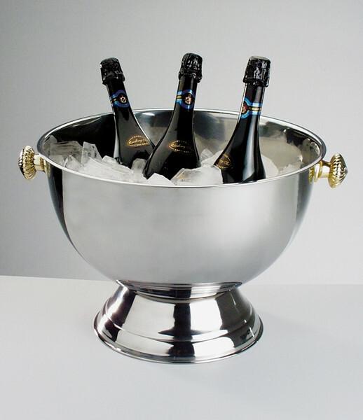 champagnekoeler edelstaal Ø 42 cm x 28(h)  cm
