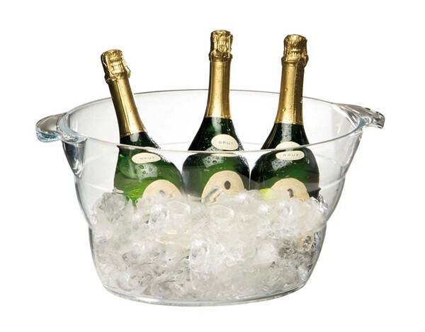 champagnekoeler kunststof 47 x 28 x 23(h) cm  helder
