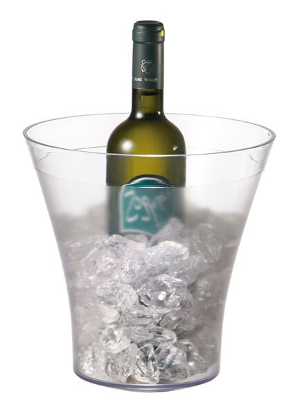 wijnkoeler kunststof Ø 22 / Ø 14 x 23(h) cm