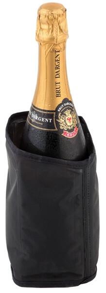 wijnkoeler koelmanchet zwart Ø 11 x 18(h) cm