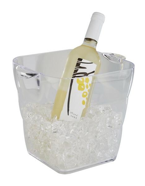wijnkoeler kunststof vierkant 20 x 20 x 20(h) cm
