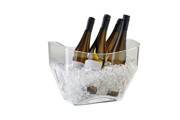 champagnekoeler kunststof 32 x 21,5 cm helder