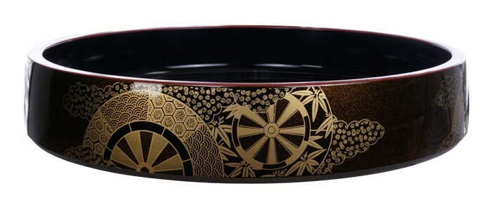 Sushi Oke Kaze No.15 lacquerware 46 x 6(h) cm
