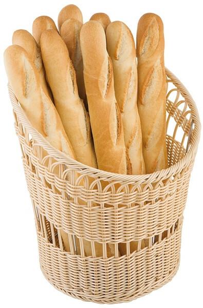 stokbrood mand naturel Ø 35 cm hoog 42 cm