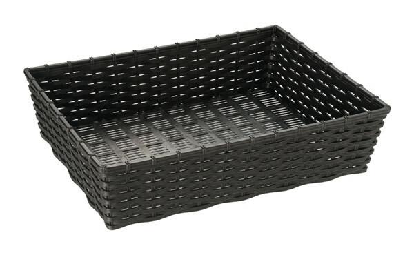 rechthoekige mand 39,5 x 29,5 x 10(h) cm zwart