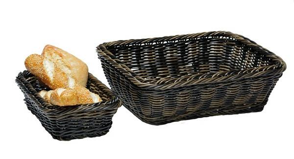 gastronorm mand Profi Line 1/4 GN diep 6,5 cm bruin/zwart