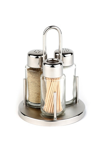 menage set peper-zout-stoker Ø10,5 x 16(h) cm