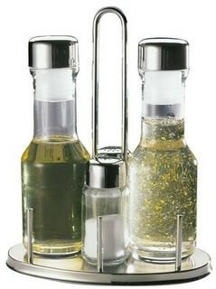 menage set peper-zout-olie-azijn 17,5 x 10,5 x 23(h) cm