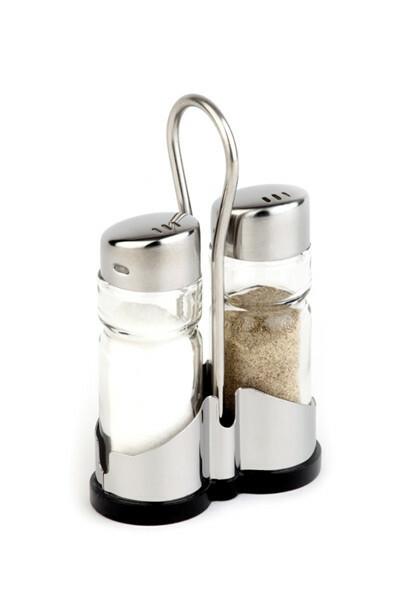 menage set peper-zout 8 x 4 x 13(h) cm