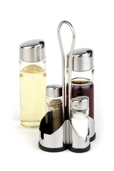 menage set peper-zout-olie-azijn 11 x 10,5 x 22(h) cm