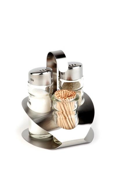 menage set peper-zout-stoker 9,2 x 8,5 x 11,5(h) cm