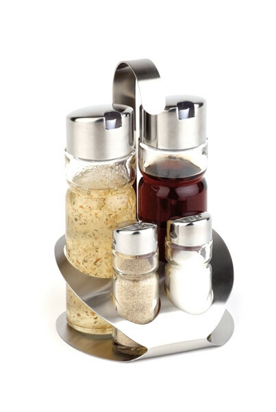 menage set peper-zout-olie-azijn 12,5 x 11 x 19(h) cm