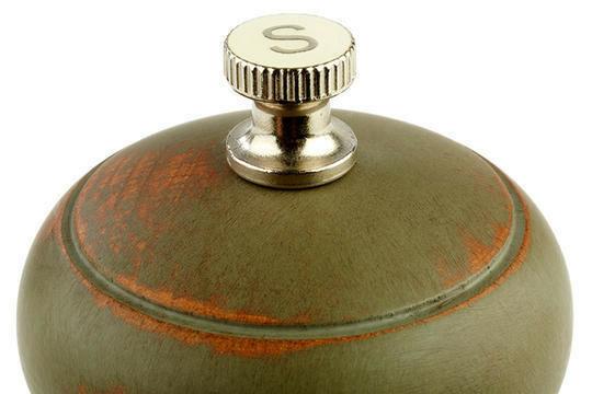 zoutmolen Vintage groen hout 15(h) cm