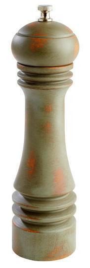 pepermolen Vintage groen hout 23(h) cm