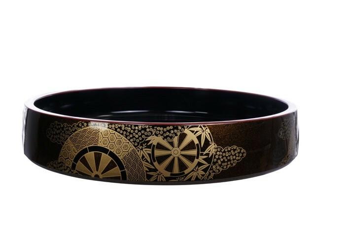 Sushi Oke Kaze No.12 lacquerware 37 x 6(h) cm
