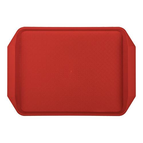 fasfood  dienblad kunststof rood 43 x 30 cm