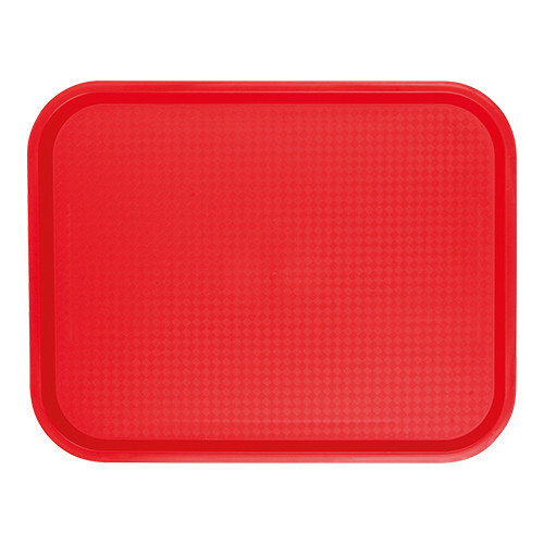 fast food dienblad polypropyleen rood 35 x 27 cm
