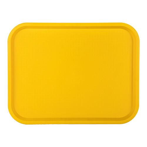 fast food dienblad polypropyleen geel 35 x 27 cm