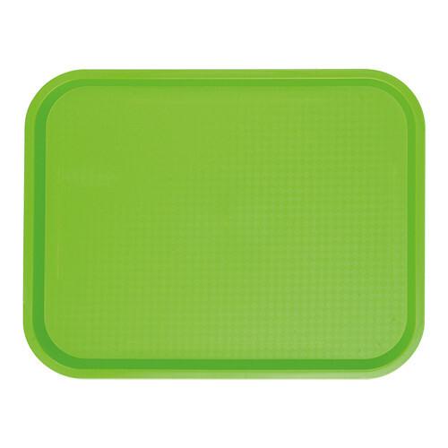 fast food dienblad polypropyleen groen 35 x 27 cm