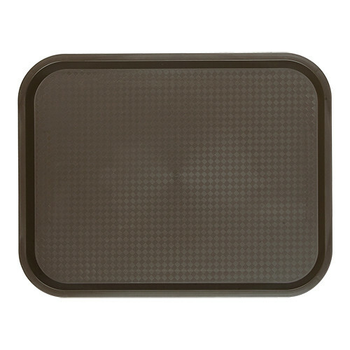 fast food dienblad polypropyleen bruin 45,5 x 35,5 cm