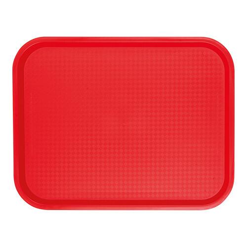 fast food dienblad polypropyleen rood 45,5 x 35,5 cm