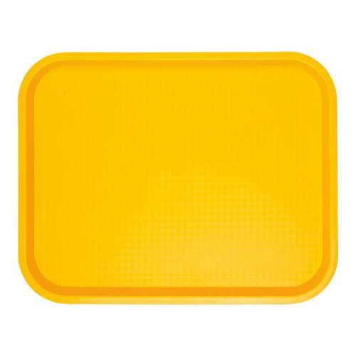 fast food dienblad polypropyleen geel 45,5 x 35,5 cm