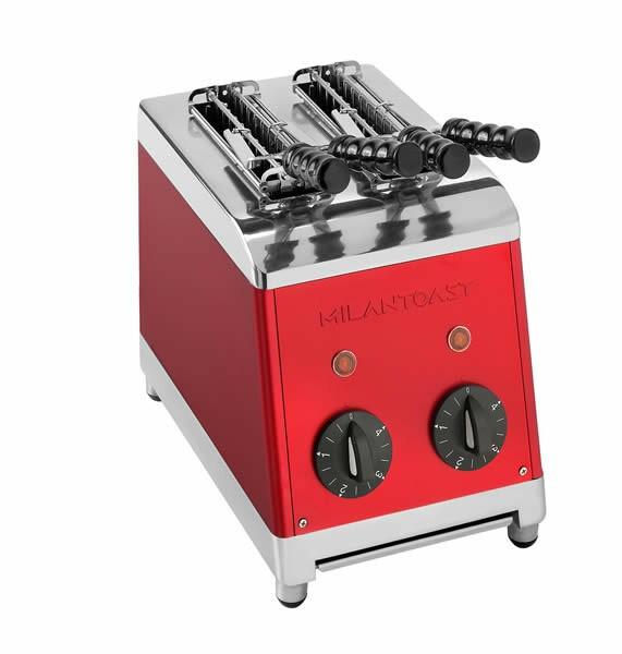Milantoast tosti apparaat * 2 tangs rood