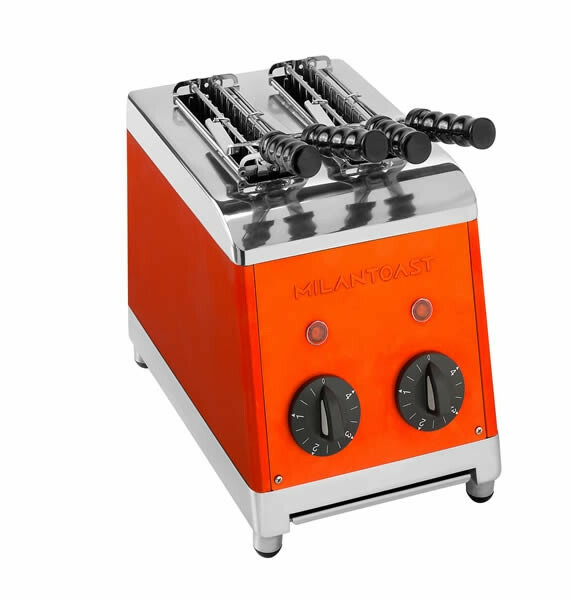 Milantoast tosti apparaat * 2 tangs oranje