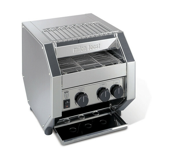 Milantoast conveyor toaster * dubbele doorvoer 700 snee per uur
