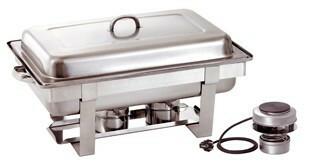 chafing dish 1/1 GN met elektrisch los element