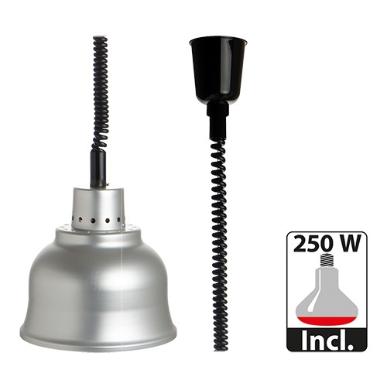 warmhoudkap met warmhoudlamp * Ø 23 cm aluminium