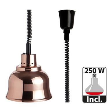 warmhoudkap met warmhoudlamp * Ø 23 cm koper