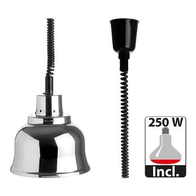 warmhoudkap met warmhoudlamp * Ø 23 cm chroom