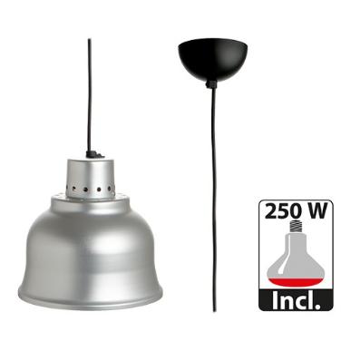 warmhoudkap met lamp * Ø 23 cm aluminium
