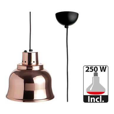 warmhoudkap met lamp * Ø 23 cm koper