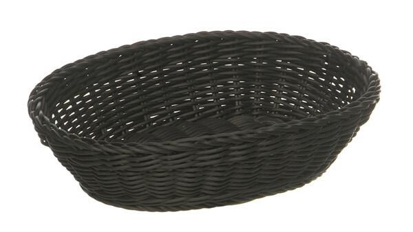 ovaal mandje Profi Line zwart 25 x 19 cm hoog 6,5 cm