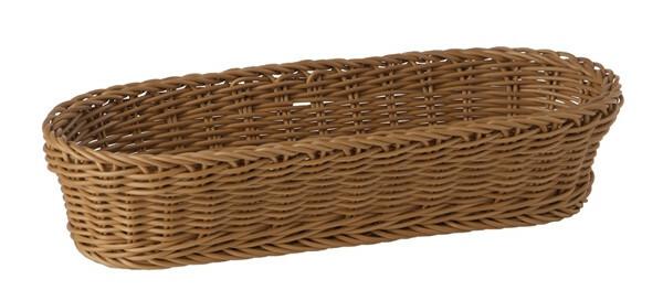 baguette mandje Profi Line bruin 28 x 16 cm hoog 8 cm