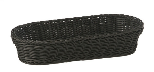 baguette mandje Profi Line zwart 28 x 16 cm hoog 8 cm