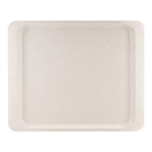Roltex rechthoekig dienblad polyester 26,5 x 32,5 cm massief grijs