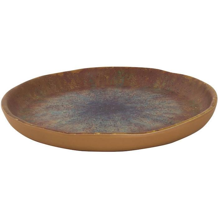Cheforward Iris bruin zwart bord 20 cm