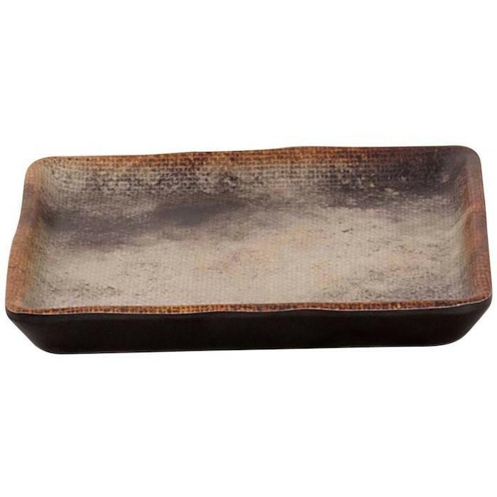 Cheforward Woven bruin zwart bord 10 x 10 cm