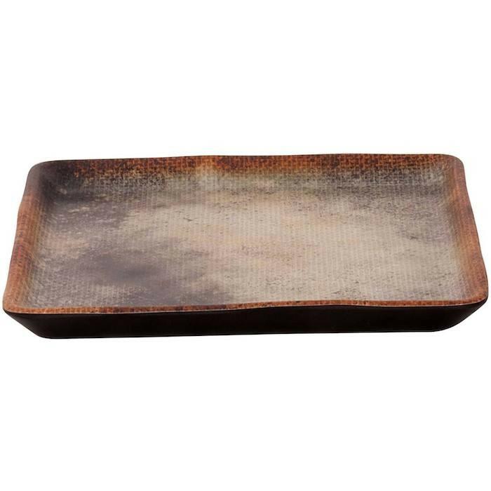 Cheforward Woven bruin zwart bord 15 x 15 cm